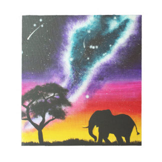 Elephant and Milky Way - Custom Notepad