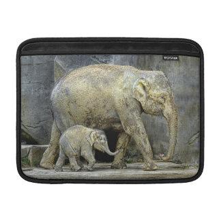 Elephant and Newborn Baby MacBook Sleeves