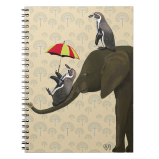 Elephant and Penguins Notebooks