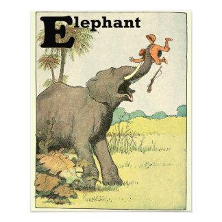 Elephant and Poacher in the Jungle Alphabet Photo Print