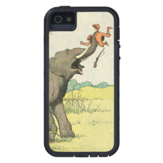 Elephant and Poacher in the Jungle iPhone 5 Case