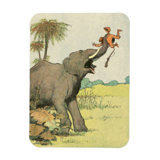 Elephant and Poacher in the Jungle Rectangle Magnets