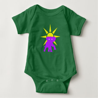 Elephant and Sun Baby Bodysuit