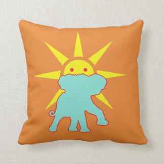 Elephant and Sun Cushion