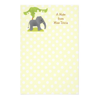 Elephant and Tree Personalized Stationery