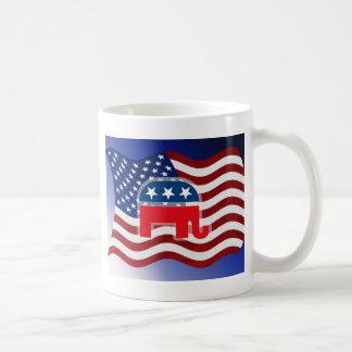 Elephant and USA Flag.tif Coffee Mug