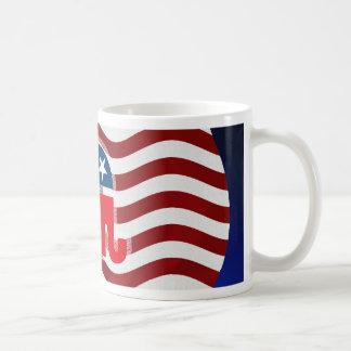 Elephant and USA Flag.tif Coffee Mugs