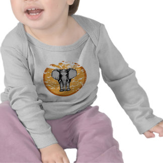 Elephant and Vintage Faded Sun T-shirts