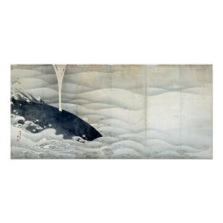 Elephant and Whale Screens by Ito Jakuchu Poster