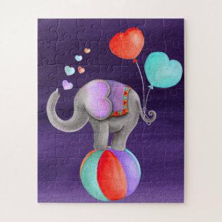 Elephant animal circus watercolor  jigsaw puzzle
