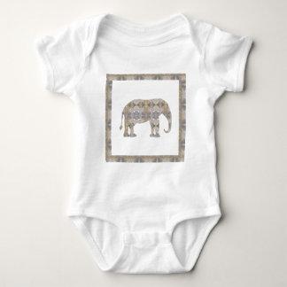 ELEPHANT Animal CRYSTAL Jewel NVN458 KIDS FUN pet Baby Bodysuit