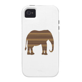 ELEPHANT animal wild pet Gold Stripe Brown NVN286 iPhone 4/4S Case