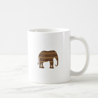 ELEPHANT animal wild pet Gold Stripe Brown NVN286 Coffee Mugs
