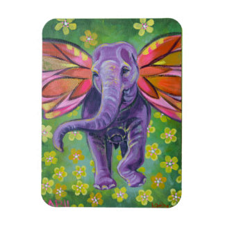 Elephant art decorative magnet