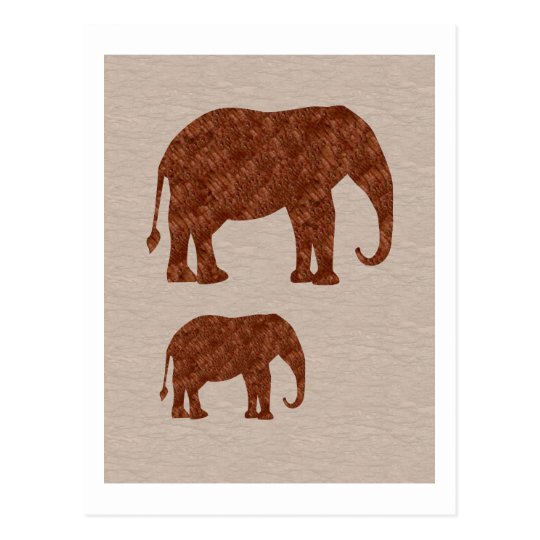 ELEPHANT : ArtWork on Copper Sheet Postcard