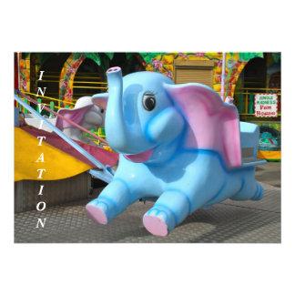 Elephant at a Funfair Invitation