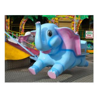 Elephant at a Funfair Post Card