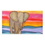 Elephant at Sunset in Africa (K. Turnbull Art)