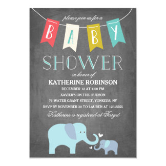 Elephant Baby   Baby Shower Invitation