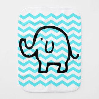 Elephant baby burp cloth