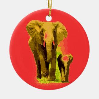 Elephant Baby Elephant Christmas Ornaments