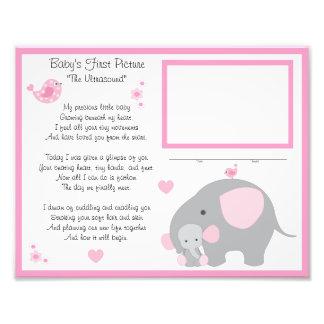Elephant Baby Girl Ultrasound Sonogram Wall Art