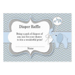 Elephant Baby Raffle Chevron Print Pack Of Chubby Business Cards