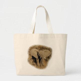 Elephant baby safari tote bags