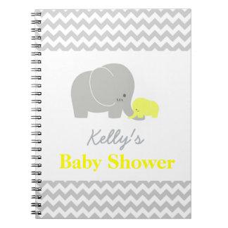 Elephant Baby Shower Chevron Custom Guest Book