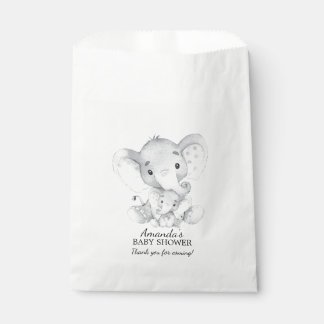 Elephant Baby Shower Favor Bags