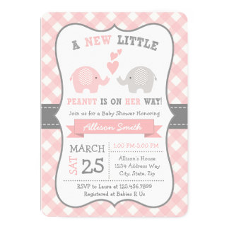 Elephant Baby shower Invitation, Elephant Shower Card