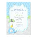 "Elephant Baby Shower Invitations boy 5"" X 7"" Invitation Card"