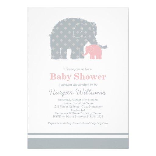 baby shower invitations light pink grey 13 cm x 18 cm invitation