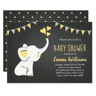 Elephant Baby Shower Invitations   Neutral