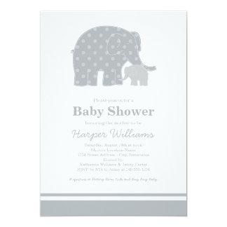Elephant Baby Shower Invitations   Silver & Gray