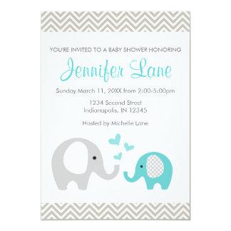 Elephant Baby Shower Invite Boy