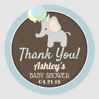 Elephant Baby Shower Thank You Stickers