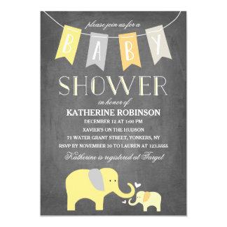 Elephant Baby Yellow | Baby Shower Invitation
