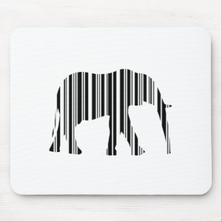 ELEPHANT BARCODE Animal Bar Code Pattern Design Mouse Pad