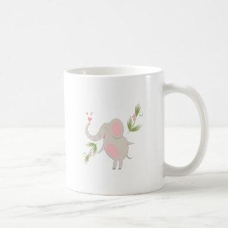 Elephant Basic White Mug