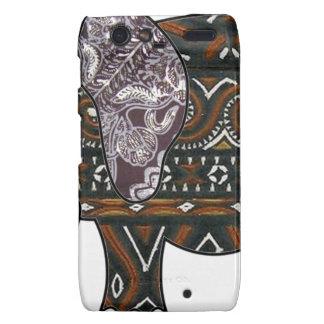 elephant batik graphic art motorola droid RAZR case
