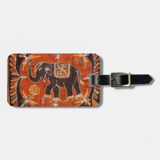 Elephant Batik Luggage Tag