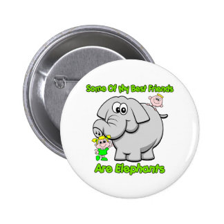 Elephant Best Friends 6 Cm Round Badge