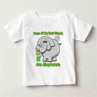 Elephant Best Friends Baby T-Shirt