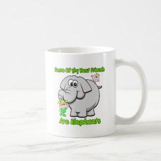 Elephant Best Friends Basic White Mug