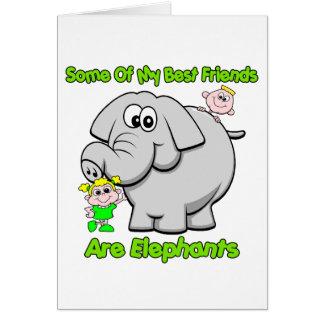 Elephant Best Friends Card