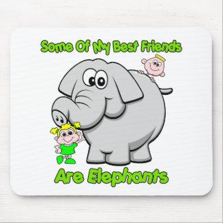 Elephant Best Friends Mouse Pad
