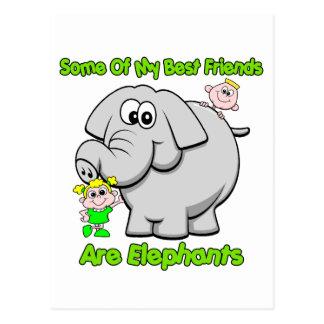 Elephant Best Friends Postcard