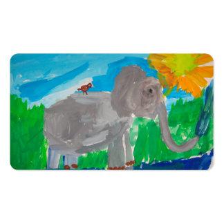 Elephant Bird Business Card Template