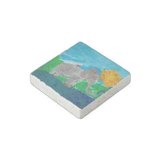 Elephant & Birdy Stone Magnet